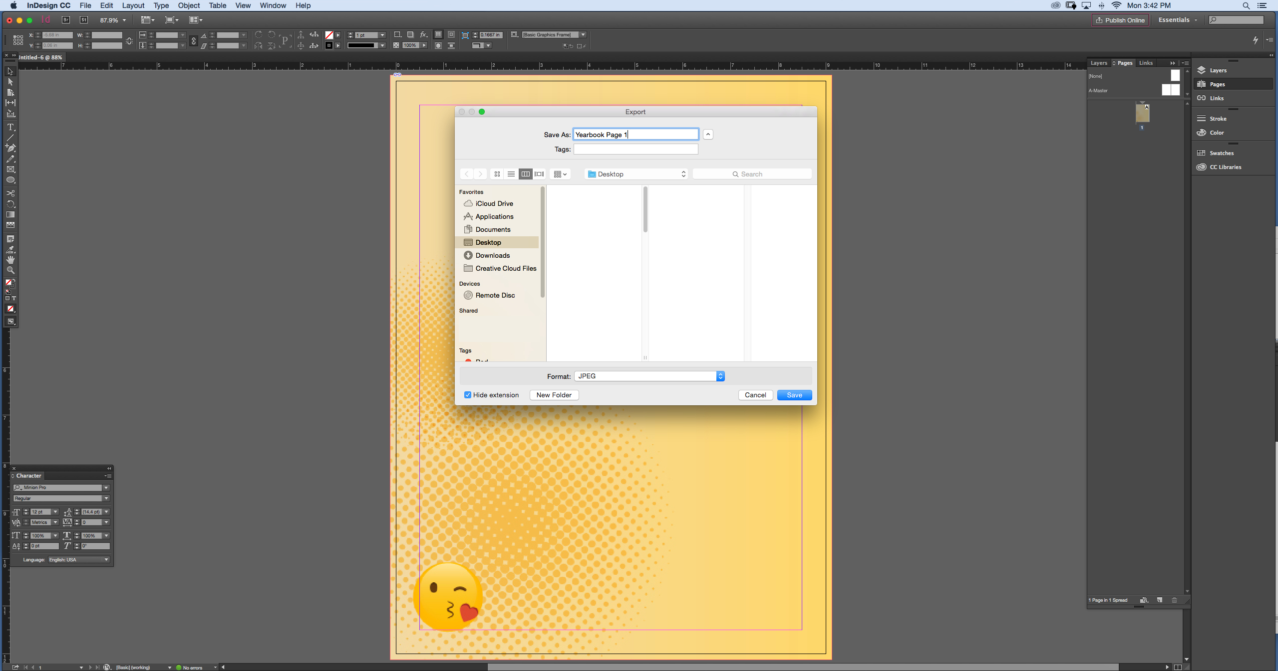 pdf export settings for high-resolution in indesign